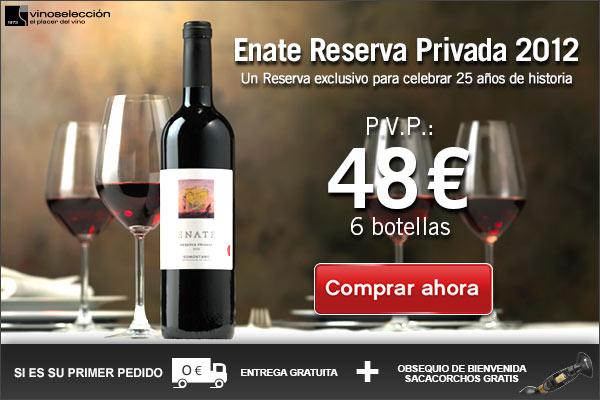 Vinoseleccion - Exclusivo Enate Reserva Privada 2012 a 8 eur la botella